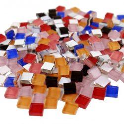 ガラスモザイク 10mm角 5色ミックスA