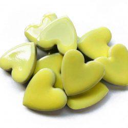 モザイクタイル ハート型 黄色