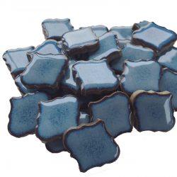 モザイクタイル ランタン型 青色