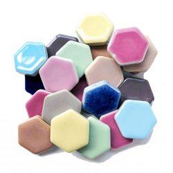 モザイクタイル 六角形 ミックスカラー